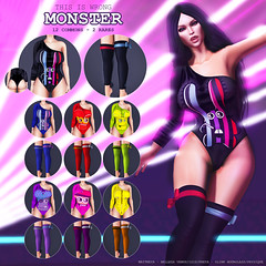 THIS IS WRONG Monster outfit GACHA - exclusive for Suicide Dollz (THIS IS WRONG - Eva Artemesia (owner)) Tags: monster outfit gacha bodysuit socks exclusive suicide dollz