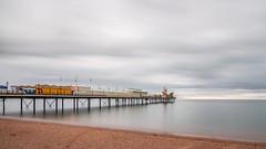 Paignton Pier....... (klythawk) Tags: paigntonpier greyclouds daytimelongexposure beach seascape formatthitech 16stop summer brown blue orange yellow red black white nikon d610 24120mm paignton southdevon klythawk