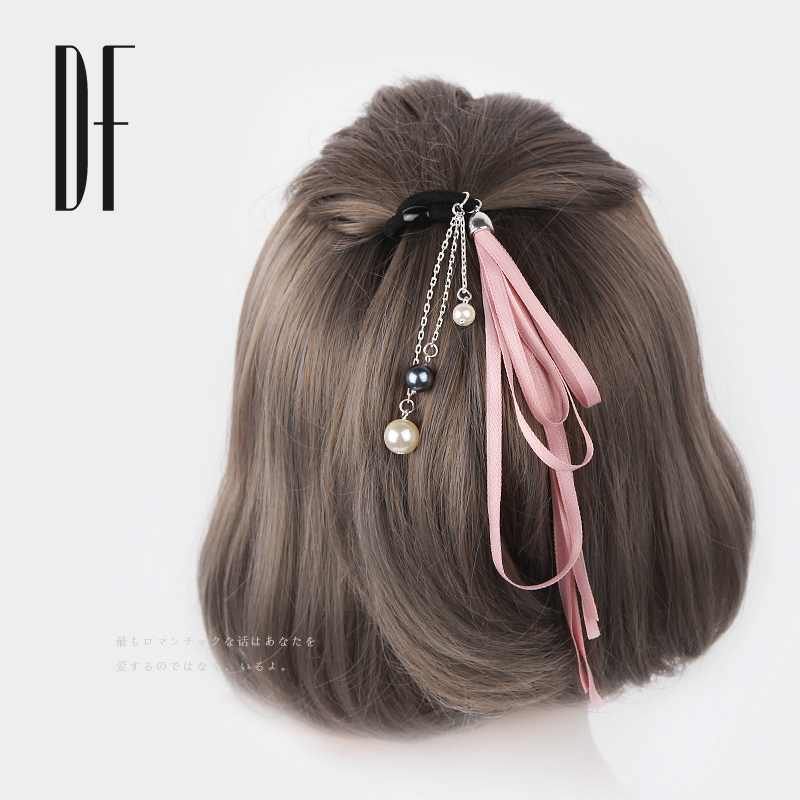 The first 100 simple accessories sweet hair rope ring Korean ribbon bow long Ponytail Hair ribbon lady