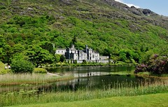 View Of Kylemore Abbey (Susan Roehl) Tags: irelandjune2013 countygalway ireland dunguairecastle fortress towerhouse galwaybay nearkinvara opentotourists insummer restaurant midievalweaponry knightarmor tapestries sueroehl photographictours naturalexposures panasonic lumixdmcgx1