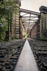 Stay on Track (Jan Moons) Tags: france frankrijk lot rail railway track bridge lines old abandoned nikon nikond600 d600 lightroom edit iron wideangle uwa 247028 tamron