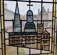 Shrewsbury through stained glass 254/365 (radleyfreak) Tags: shrewsbury shropshire markethall stainedglass