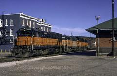MILW train 420 at Iron Mountain (ac1756) Tags: milwaukeeroad milw milwaukee ironmountain michigan 420 ge u23b 5003