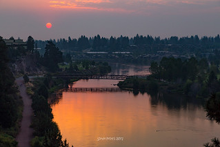 Red Sunrise over Deschutes