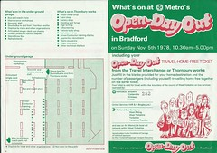 West Yorkshire PTE Metro Open-Day Out, Bradford Interchange and Thornbury, 1978 (Ray's Photo Collection) Tags: scan scanned document 1978 west yorkshire yorks thornbury bradford interchange bus buses wypte metro passengertransportexecutive openday