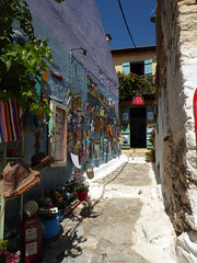 Shopping alley (lesleydugmore) Tags: greece greekislands euroupe sporades outside outdoor alley gifts