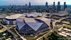 Atlanta, GA: Falcon's Mercedes Benz Stadium on its inauguration (nabobswims) Tags: aerialphotography atlanta georgia georgiadome hdr helicopter highdynamicrange lightroom mercedesbenzstadium nabob nabobswims photomatix sel18105g sonya6000 stadium us unitedstates