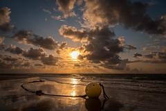 Sun after an area of low pressure (macrobernd) Tags: amrum ocean sky golden sunset sunrise sonnenuntergang nordsee northsea norddorf strand boje beach sand intothesky