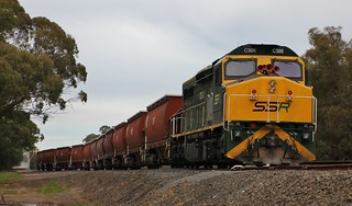 C506 spent over a week stabled at Glenorchy along with 12 BGKF grain wagons