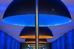 Good Design is aesthetic - Dieter Rams (*Capture the Moment*) Tags: 2016 bokeh dof farbdominanz fotowalk lamp lampe minimalism minimalismus munich münchen orange schärfentiefe sonya7ii station subway tiefenschärfe ubahn westfriedhof yellow zeissbatis1885 blau blue gelb