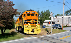 Eastbound At New Windsor (DJ Witty) Tags: sd402 sd45 marylandmidland maryland usa locomotive dieselelectric rr railroad freight