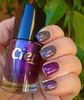 CLAIRE'S Velour + L'ÓREAL Vert Absynthe (Dora Cristina Fernandes) Tags: claires glitter holographic vernizroxo vernizverde purplenailpolish greennailpolish loréal