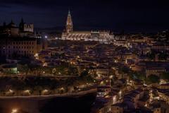 Toledo (karinavera) Tags: city longexposure night photography cityscape urban ilcea7m2 toledo spain españa church