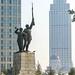 Commemorative statutes of patriotic soldiers