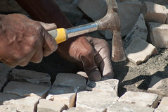 Worker 5 (Eagle Keeper :)) Tags: worker black scalpellino stonecutter stone stones cutter hard hands dirty hero white manual artisan workshop