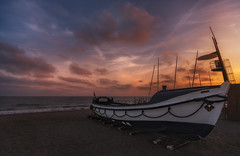 Boat (Toni_pb) Tags: a7rii seascape sky sunset sony sea ilce7rii ilce7rm2 ilce7rmii boat clouds colors catalonia calafell sony1635f28gm gmaster alpha landscape water waterscape warm