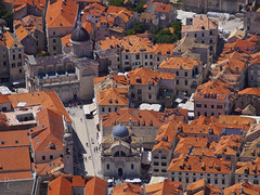 The Heart of Dubrovnik (RobertCross1 (off and on)) Tags: 40150mmf456mzuiko croatia dalmatia dubrovnik em5 europe hrvatska omd olympus architecture cathedral church city cityscape landscape medieval roof tiles urban