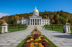 Vermont State House (dxd379) Tags: vermont vt montpelier statecapital capitol building architecture dome autumn fall nikon d7100 capital greekrevival