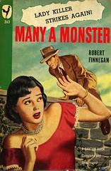 Bantam Books 363 - Robert Finnegan - Many a Monster (swallace99) Tags: bantam vintage 40s murder mystery paperback bernardbarton