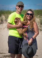 Attempted Family Portrait (tquist24) Tags: cavapoo hww lakemichigan michigan nikon nikond5300 sicily stjoseph tiscorniapark wanda beach cute dog geotagged girl hat portrait pretty puppy sanddunes sky smile summer sunglasses woman saintjoseph unitedstates couple family man