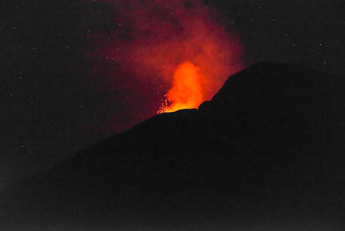 Stromboli in eruption, July 2017