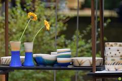 On display (petrOlly) Tags: europe europa germany deutschland pottery toepfermarkt moenchengladbach rheydt schlossrheydt schloss handmade object objects bokeh flower flowers