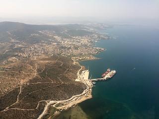 Over Gulluk, Mugla, Turkey