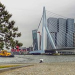 Nieuwe Maas, Erasmusbrug, De Rotterdam, Rotterdam, Netherlands - 5203 thumbnail