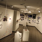 The art gallery filled with fine art and media art and design senior capstones.