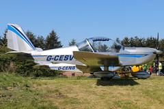 G-CESV (GH@BHD) Tags: gcesv evektor evektoraerotechnik ev97 eurostar teameurostar carrickmoreairfield microlight aircraft aviation