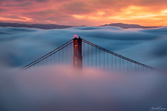 Just Visiting (Aron Cooperman) Tags: aroncooperman california escaype goldengatebridge karlthefog landscape lowfog marinheadlands nikon70200 october2016 openlightphoto sanfrancisco sunrise wbpa nikond800 fog goldengatenationalrecreationarea goldengate sf sfbay