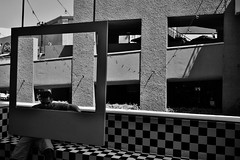 Untitled (ajkpix) Tags: urban street bw blackandwhite portrait squares frames sandiego california