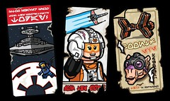 Star Wnrs posters. (Catanas) Tags: star wars lego poster art podracing rebellion empire propaganda