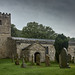 Hubberholme Church in the gloom