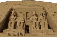 Templo de Abu Simbel (Anna Luiza Aragão) Tags: ilustração illustration photoshop egito egypt abusimbel abusimbeltemple temple