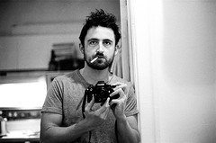 not in the mood (gguillaumee) Tags: film analog grain portrait selfportrait selfie gguillaumee mtl montreal bw blackandwhite bathroom mirror nikonf3 kodaktrix cigarette tired