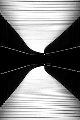 Why Not Do All The Things I Want To Do by Simon & His Camera (Simon & His Camera) Tags: contrast lines bw blackandwhite black white abstract art curve light dark monochrome minimalist minimalism pattern passage simonandhiscamera tunnel distorted
