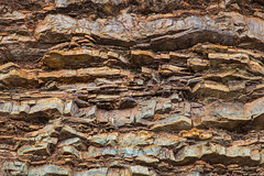 layered stone texture (whitehoune) Tags: ancient background beautiful big blocks boulder closeup cracked earth geological geology grain ground huge large layered lichen massive moss natural nature noize old orange rock sharp stone structure texture wall weathered yellow