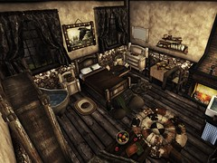 Simple Wood  Bedroom - Fantasy Gacha Carnival Aug 2017 (moonshagoreanstore) Tags: moon sha moonsha moonlight shadow mesh item medieval old fantasy gacha carnival fairy gor gorean wood torvald torvaldslander wardrobe night table bed single simple hud deco decor decoration furnitures house mirror key