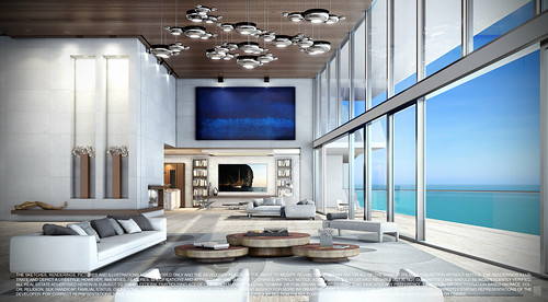 Turnberry Ocean Club-Sunny Isles Beach-Unit D Living Room