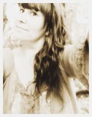 A last dance (nathaliedunaigre) Tags: autoportrait selfportrait eilahtan hair chevelure femme woman monochrome sépia regard eyes yeux sourire smile