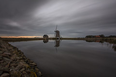- Grey Toned Mill - (Manuel Kaboth) Tags: landscape landschaft unique 2016 autumn fall herbst texel netherlands niederlande island clouds reflections longexposure langzeitbelichtung