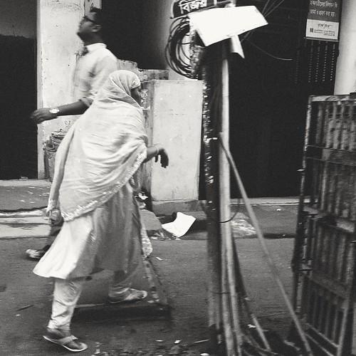Pedestrians. Dhaka. Bangladesh.