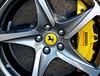 Ferrari wheel cover (sharon'soutlook) Tags: ferrari wheel brake cover emblem yellow automobile caliper