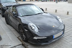 Porsche 911 Targa 4S 991 (Monde-Auto Passion Photos) Tags: voiture vehicule auto automobile porsche 911 targa cabriolet convertible roadster noir sportive supercar vendome france paris