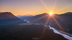 Bavarian Sunset (F!o) Tags: sunset sonnenuntergang sunrise sonnenaufgang alps alpen bayern oberbayern isar isarwinkel berge mountains light sunstar sonnenstern blendenstern licht wolken himmel sky clouds wald forest