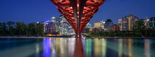 Peace Bridge Over the Bow River, Calgary, Alberta