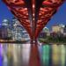 Peace Bridge Over the Bow River, Calgary, Alberta