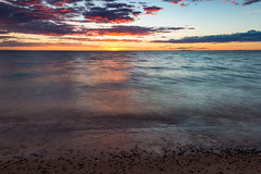 In Memory of Jim (matthewkaz) Tags: jim neighbor friend christmascove christmascovebeach beach sand shore shoreline coast coastline sunset sun sky clouds lakemichigan lake water reflection reflections greatlakes leelanau leelanaupeninsula puremichigan summer northport michigan 2017 death life loss waves