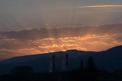 Freiburg in the Morning (oliko2) Tags: freiburg sunburst sunrise sunrays morning blackforest schwarzwald mountains landscape silhouette layers nikond7100 nikkor85mmf18 85mmf18